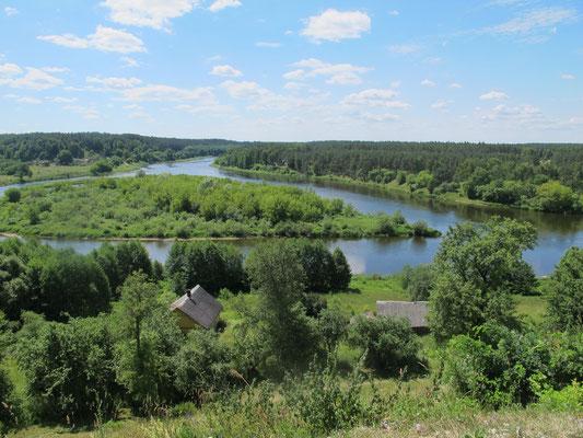 Flußverlauf in grüner Landschaft...