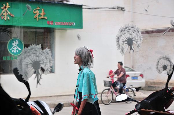Dans une petite  ville du Xishuangbanna (Yunnan), Chine 2017 ©AYMERICH Michel