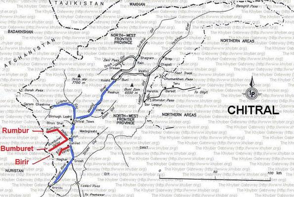 Carte représentant la région qu'habitait Jordi Magraner
