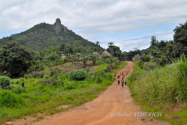 Un petit village sur la piste menant de Kerouané à Banankoro. Haute Guinée 2012 @Michel AYMERICH