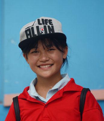 A  Liuzhou  (région autonome Zhuang du Guangxi), un sourire lumineux... ©Michel AYMERICH