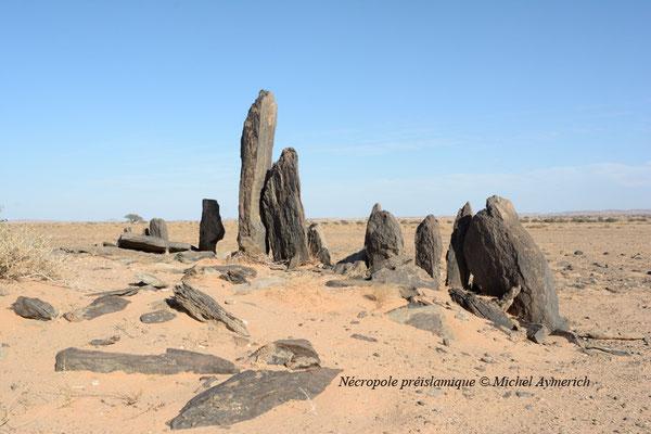 Nécropole préislamique dans le désert du Tiris © Michel Aymerich