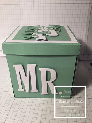 Stampin Up! Explosionsbox, Box, Hochzeit, mint