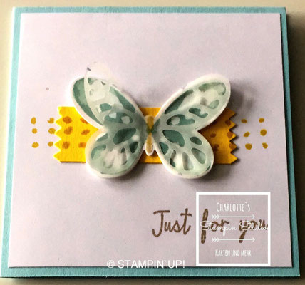 Stampin Up! Einfach so - Karte, Watercolor Wings