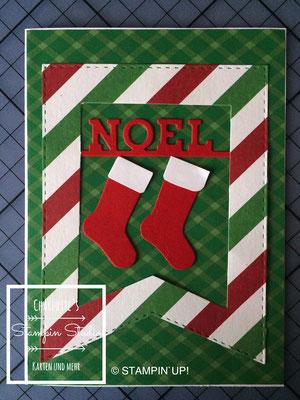 Stampin Up! Weihnachts - Karte, Von den Socken