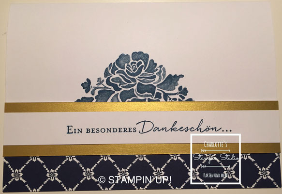 Stampin Up! Danke - Karte, Florale Grüße