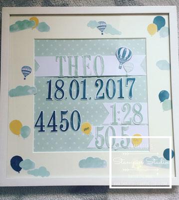 Stampin Up!,  Geburts-Rahmen, Geburtstag, Geburtsdatum, Birthday, frame