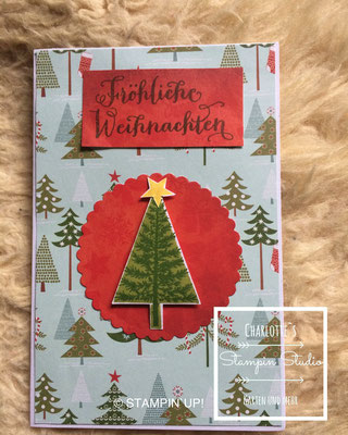 Stampin Up! Weihnachts - Karte, Christbaumfestival