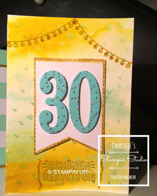 Stampin Up! Geburtstagskarte, Konfetti-Grüße, So viele Jahre