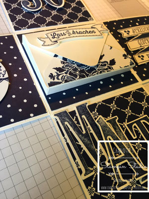 Stampin Up! Explosionsbox, Box, Geburtstag, Night of Navy, Marineblau