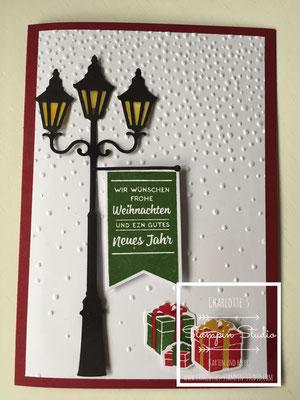 Stampin Up! Weihnachts - Karte, Christmas, Weihnachten Im Lichterschein, Brightly Lit Christmas