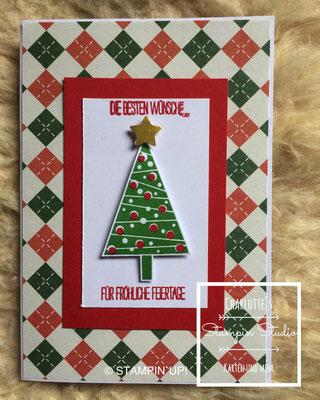 Stampin Up! Weihnachts - Karte,