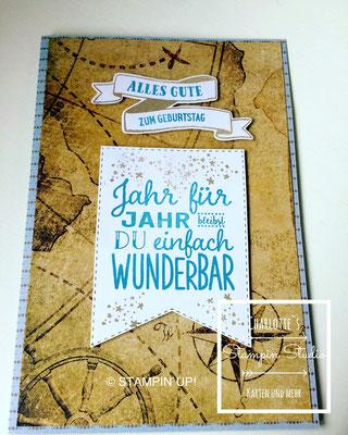 Stampin Up! Geburtstagskarte, Zum Geburtstag, Bannereien