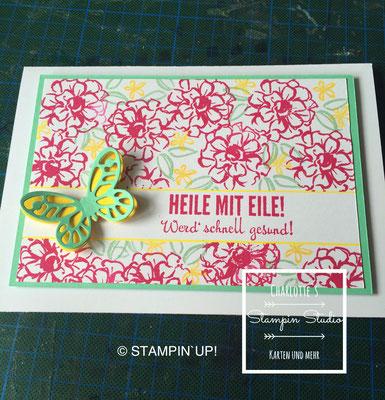 Stampin Up! Gute Besserung - Karte, Fantastische Vier