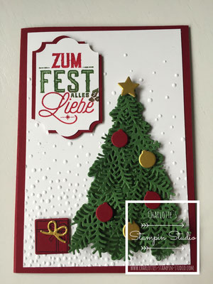 Stampin Up! Weihnachts - Karte, Christmas,  Vorfreude, Ready for Christmas