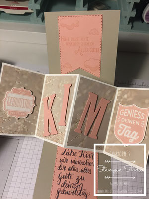 Stampin Up! Geburtstagskarte, Pop Up Panel Karte