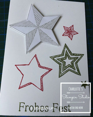 Stampin Up! Weihnachts - Karte, Be the Star