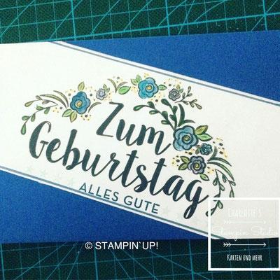 Stampin Up! Geburtstagskarte, Zum Geburtstag