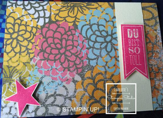 Stampin Up! Einfach so - Karte, Wimpeleien