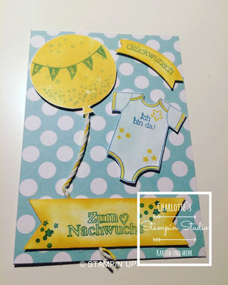 Stampin Up! Baby Karte, Zum Nachwuchs