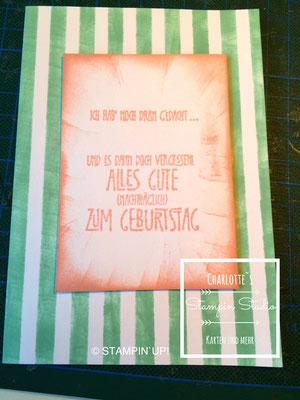 Stampin Up! Geburtstagskarte, Geburtstagsallerlei