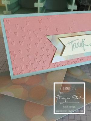Stampin Up! Danke, Karte, zum Verlieben, Love sparkles