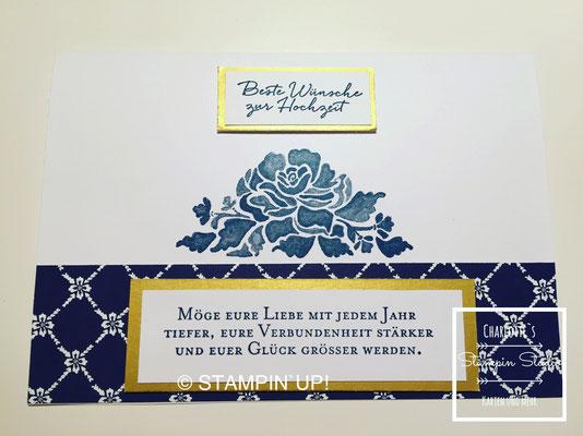 Stampin Up! Hochzeit, Florale Grüße