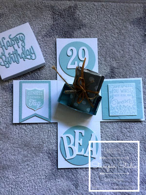 Stampin Up! Explosionsbox, Box, Geburtstag