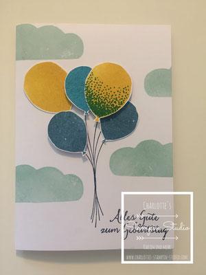 Stampin Up! Geburtstagskarte, Partyballons