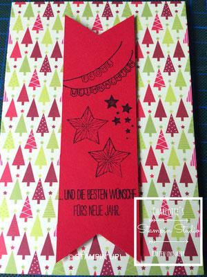 Stampin Up! Weihnachts - Karte, Weiße Weihnacht, Be the Star