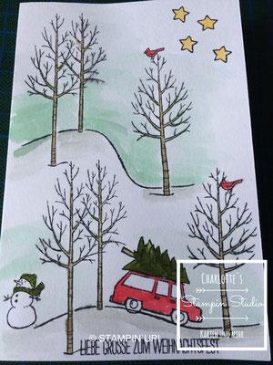 Stampin Up! Weihnachts - Karte, Weiße Weihnacht