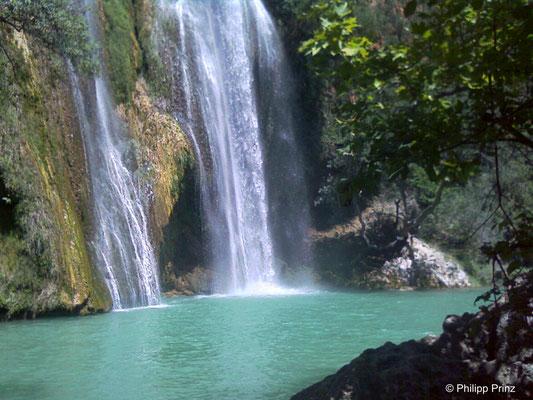 Wasserfall bei Corbières