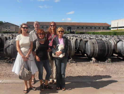 gemeinsamer Besuch eine Weinbgutes