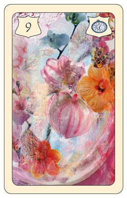 Nr. 9 Blumen - großes Glück, Feier, Geschenk, Einladung  (Zeitkarte)