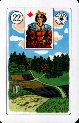 Nr. 22 Wege - Stärke, Macht, Größe, Breite, unüberwindliches Hindernis, Blockade (Zeitkarte)