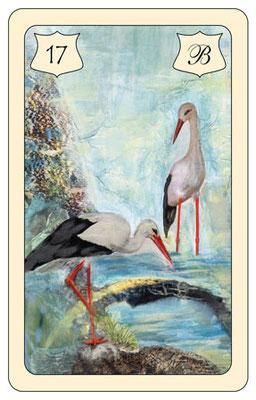 Nr. 17 Storch- Veränderung,  Erneuerung, Wandlung,  Beweglichkeit, Technik