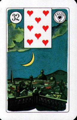 Nr. 32 Mond - : Norden, Gefühle, Anerkennung, Abend, Nacht (Zeitkarte)