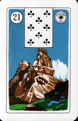 Nr. 21 Berg - Stärke, Macht, Größe, Breite, unüberwindliches Hindernis, Blockade (Zeitkarte)