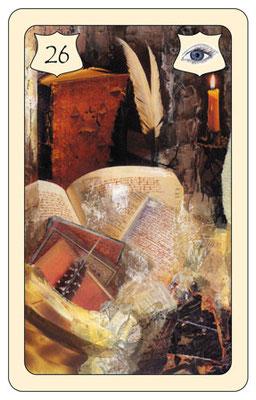 Nr. 26 Buch - erlerntes Wissen, Studium, Geheimnis, Wissen sammeln  (Zukunftskarte)