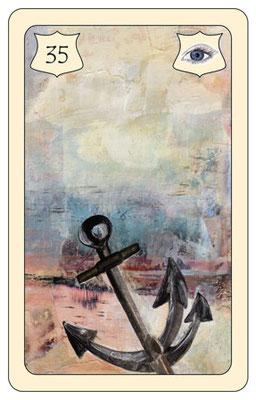 Nr. 35 Anker - Alter, Länge, Tiefe, Ausland, weite Reise (Zeit- und Zukunftskarte)