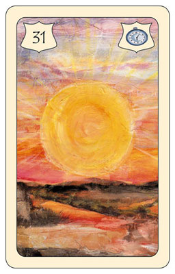Nr. 31 Sonne - Erfolg, Wärme,  Hitze, Süden (Zeitkarte)