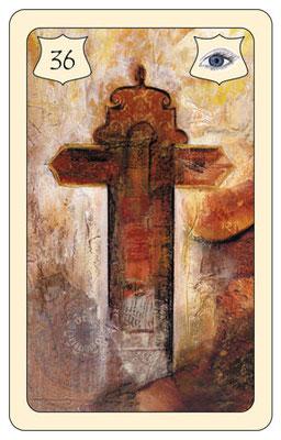 Nr. 36 Kreuz  - Glaube,  Hoffnung, Vertrauen, Zuversicht, zukunftsweisend   ( Zukunftskarte)