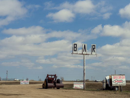 Horseshoe Bar - Drive in and ride out. Interior, South Dakota