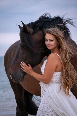 Spanisches Pferd Meer