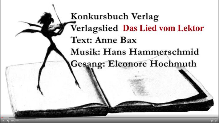 Verlagslied: Lied vom Lektor