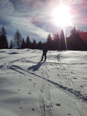 Eine Skitour an einem herrlichen Wintertag