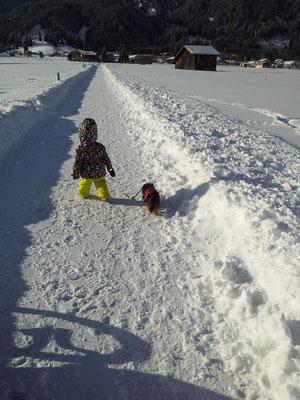 Winterspaziergang auch für die Kleinsten