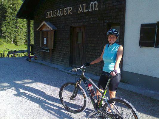 Mit dem Mountainbike auf die Musauer Alm.....