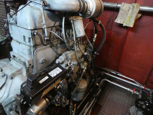 Bugstrahlermotor Daimler-Benz OM 314 (ehemaliger Unimog-Motor), Baujahr 1972, 4-Zylinder Reihenmotor © Günther B.