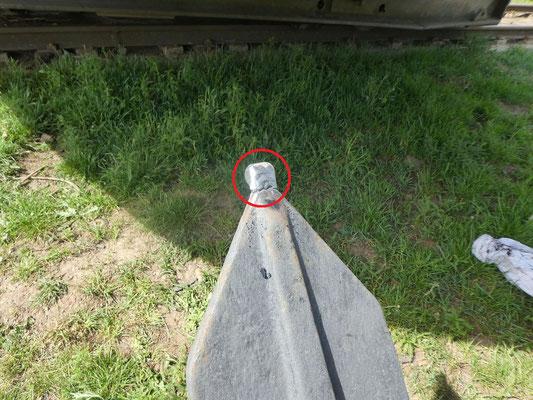 Flunkenspitze mit aufgeschweisstem Rohrstück